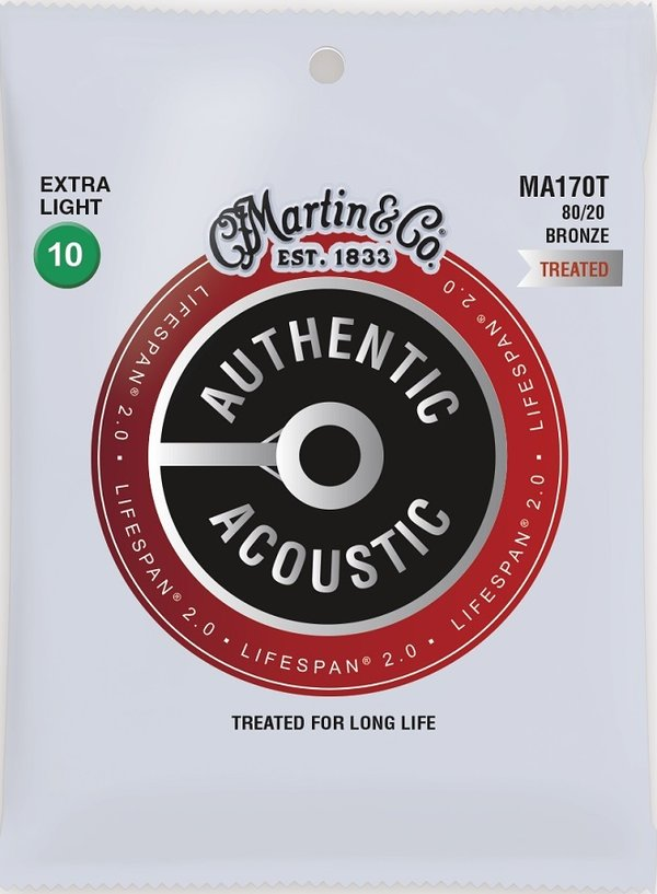 Martin Guitars MA170T Acoustic Lifespan 2.0 Westerngitarrensaiten Stärke 010-047