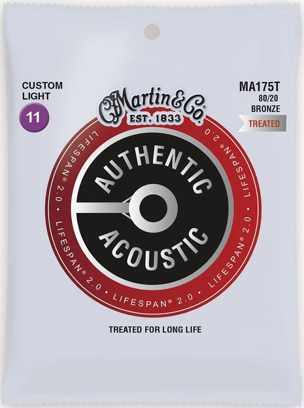 Martin Guitars MA175T Acoustic Lifespan 2.0 Westerngitarrensaiten Stärke 011-052